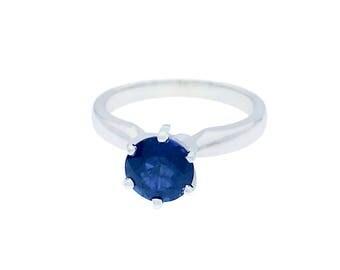 14k White Gold Sapphire Ring - 1.39 ct