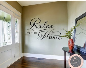 CLEARANCE SALE Home Decor Home Wall Decoration Home Wall Decal Wall Decal Vinyl Wall Decals Living Room Decor Wall Stickers Welcome Entryway