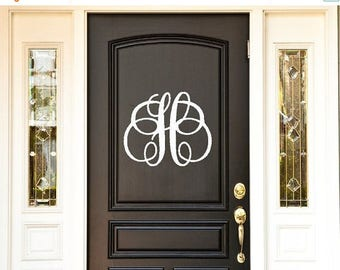 CLEARANCE SALE Front Door Decoration,  Front Door Decor, Front Door Monogram, Wall Decal, Monogram, Front Door Sign - Front Door Decor, Wall