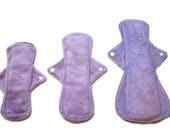 Set of 4 Minky  Reusable Washable Soft Mama Cloth Pad! Choose your size!