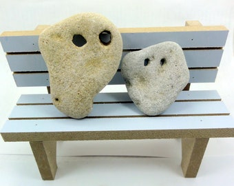 2 Pcs Rare Unusual Shape Sea Rocks Natural Holey Beach Stones Israel