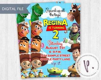 Toy Story Invitations / Jessie Cowgirl / Woody / Buzz Lightyear