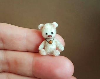 "OOAK Micro Miniature Bear ""Eli"" ~ Artist Handmade Bear By Michele Roy"