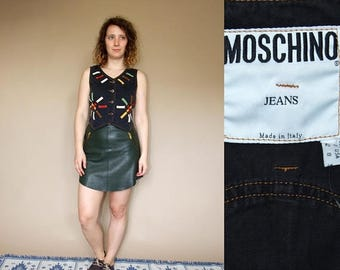 ON SALE 80's vintage women's Moschino Jeans vest
