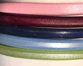 "Shorts: 5 Strands licorice leather bundle, 6"" each, Colors as shown, #3 bundle"