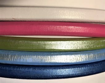 "Shorts: 5 Strands licorice leather bundle, 6"" each, Colors as shown, #16 bundle"