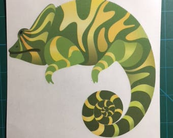 Chameleon Decal/Sticker #3 5X5