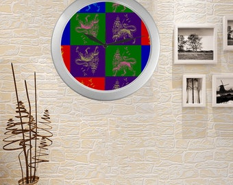 Lion Of Judah Large Modern 3d Home Decor Silver Wall Clock
