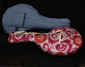 Ukulele soft gig bag, handmade for Rays Rootworks musical instruments.