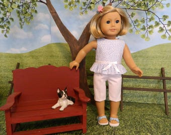 American Girl fit doll clothes - Summer doll outfit - 18 inch doll clothes