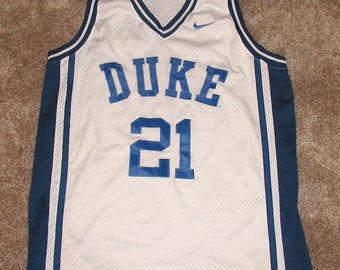 Vintage DUKE University #21 Size M NIKE College Basketball Jersey