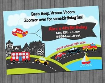 FLASH SALE transportation Invitations