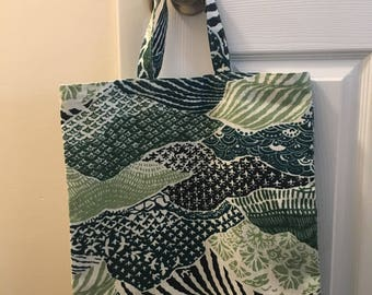Handmade canvas tote bag shopping grocery bag