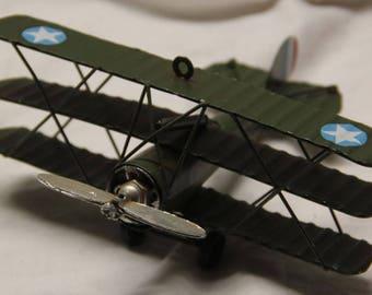 Miniature airplane / war plane novelty figurine.  All metal