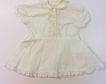 Vintage Toddler Dress - Size 3 - 50's Toddler Dress - White Vintage Dress - 2T 3T - Lace Vintage Dress - Vintage Baby Dress - Rockabilly Bab