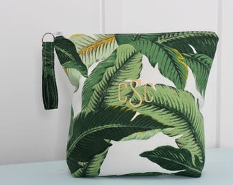 Greenery Wet Bag, Dry Bag, Bikini Bag, Beach Pouch, Bridesmaid Gift, Toiletry Bag, Bikini Pouch, Swim Suit Bag, Diaper Bag
