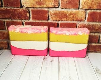 Pink Grapefruit Soap, Handmade Soap, Cold Process Soap, Bar Soap, Artisan Soap
