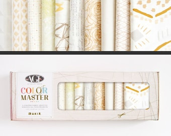 Art Gallery Fabrics, Color Master Collectors Box, Winter Wheat, FREE SHIPPING, cream fabric, neutral fabric, grey blenders, quilting bundle