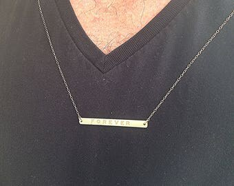 Personalized Men Necklace,Men Necklace,Gold necklace,Personalized necklace,Men Custom jewelry,Father's Day Gift,gold filled bar necklace