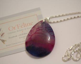 "Necklace ""Mermaid"" ↠ stone: agate (Anti Stress - optimism -) ↠ Zen Yoga Meditation ↠"