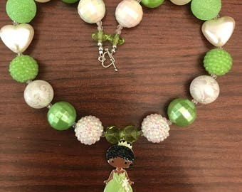Princess Tiana Chunky Bubble Gum Necklace (Child/Toddler)