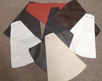1RMNT Leather Cow Hide Cowhide Craft Fabric Pieces Great for Small Crafts 20 pcs