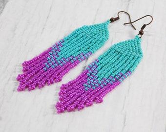 Turquoise earrings hawaii earrings aquamarine earrings beach earrings mermaid earrings nautical earrings ocean earrings tropical earrings