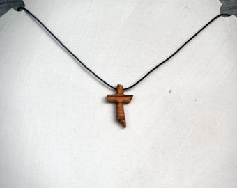 Tau Cross Crucifix made of olive wood 21