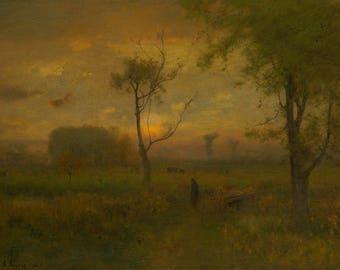 "George Inness : ""Sunrise"" (1887) - Giclee Fine Art Print"