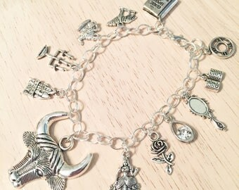 Beauty and the Beast Inspired Charm Bracelet