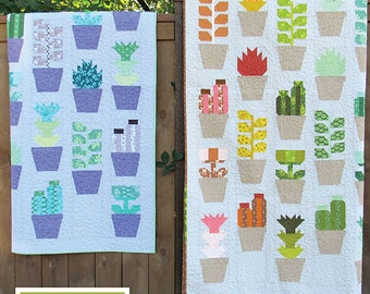 Greenhouse Elizabeth Hartman Quilt Modern Pattern 3 Sizes
