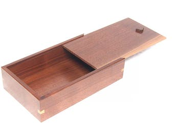 Large Handcrafted Walnut Candle Box