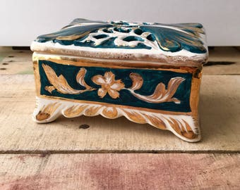 Capodimonte Italian Porcelain Jewelry Box Trinket Box