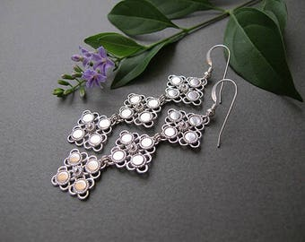 Jewelry, Earrings,Silver earrings , Filigree earrings ,  Yemenite earrings, Israel jewelry