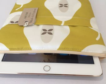 ipad Air 2 scratch cover - White and mustard pear retro  fabric