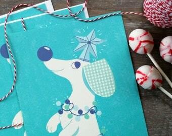 Wiener Dog Dachshund Christmas Card Christmas Ween Fancy Flat Card