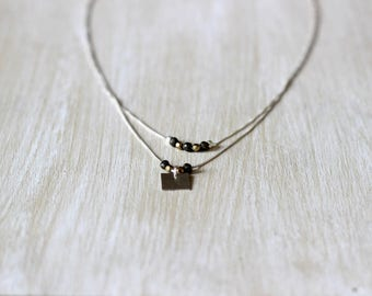 Gold plated 925 sterling silver Hematite necklace