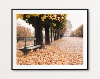 Paris Photography, Paris Print, Paris Bedroom Decor, Home Decor, Autumn in Paris, Paris Images, Paris Photos, Paris Wall Art, Louvre Photo