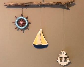 Sweet Nautical Mobile or Wall Hanging