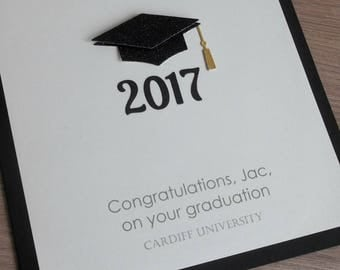 Handmade graduation card, can be personalized with any message,