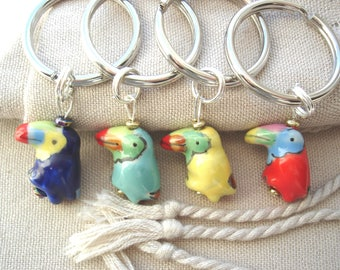 Lovebird Key Rings, Key Rings, Parrot Key Rings, Bird Key Rings, Fun Key Rings, Gift Ideas, Purse Accessories, Car keys rings