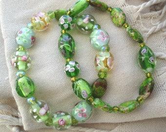 Green Bracelets, Green Glass Bracelets, Irish Green Bracelets, Colorful Green Bracelets, Accessories, Gift Ideas,