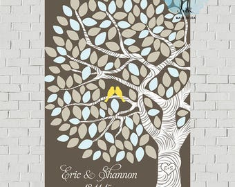 Rustic Guest Book Tree Wedding Tree Custom Guest Book, Sign for Guest Book Poster Wedding Canvas Wedding Guest Book Alternative Guestbook