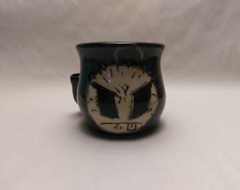 """WAKE and BAKE Pipe MUG - Jthm Inspired """"Noodle Boy"""" - Handmade Ceramic #717"""