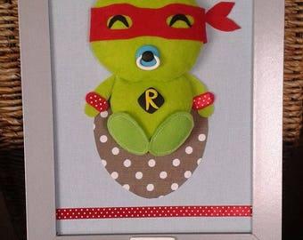TO order: Painting Original customizable child hero - BB turtle