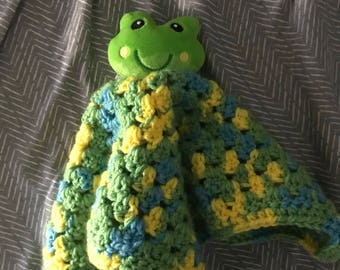 Crochet Frog Lovey for Baby
