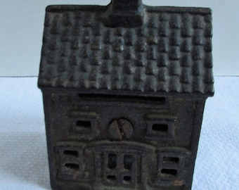 Early House Cast Iron Bank  A.C. Williams