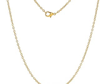 Gold Plated Cable Link Chains - 24""