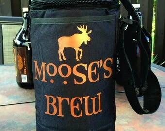 Growler Cooler bag, Personalized Beer Growler Cooler, Growler Bag, Craft Beer, Beer Enthusiast, Groomsmen gift, Beer Lover, Beer Bag