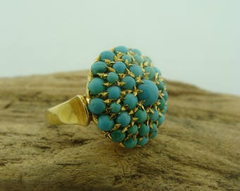 18KY Gold Sleeping Beauty Turquoise Ring
